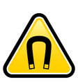 Magnetic field warning sign vector image vector image