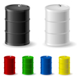Metal barrels vector image vector image