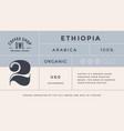 minimal label typographic modern vintage label vector image