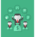 mutual fund vector image