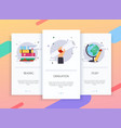 onboarding screens user interface kit for mobile vector image