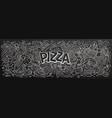 pizza hand drawn cartoon doodles vector image vector image