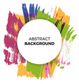 poster background paint brush watercolor vector image