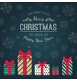 Present boxes and greeting text vector image