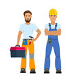 professional construction workers vector image vector image