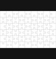 puzzles blank template with linked rectangle grid vector image vector image