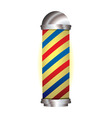 red and blue barbers pole vector image