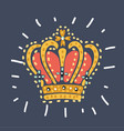 royal gold crown for queen princess king vector image