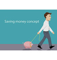 Saving money concept vector image