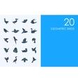Set of geometric birds icons vector image
