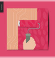 simple things - wall painting vector image vector image