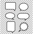 speech bubbles on transparent background speech vector image vector image