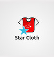 star cloth logo icon element and template for vector image vector image
