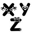 Strange Creature Font Type vector image vector image