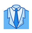 suit line icon vector image vector image