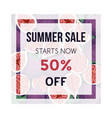 summer sale banner with figs fruit design vector image vector image
