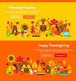 thanksgiving day website banners vector image vector image