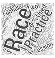 The Basics of Formula One Racing Word Cloud