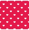 Tile cute pattern with white hearts on pastel pink vector image vector image