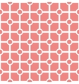 Tile pastel pink and white pattern vector image vector image