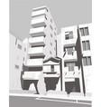 tokio cityscape greyscale vector image vector image
