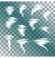 Tornado set vector image vector image