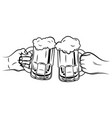 two glasses beer black and white
