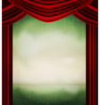 vintage theater poster vector image vector image