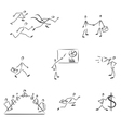 Set of symbolic business people vector image