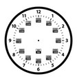 24 hour military clock template vector image vector image
