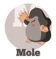 ABC Cartoon Mole vector image