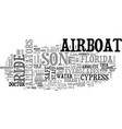 airboat safety text word cloud concept vector image vector image