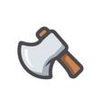 ax axe wooden hatchet cartoon vector image