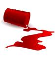 Barrel with red liquid vector image vector image