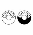 black and white donuts vector image