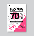 black friday sale banner with copy space pink vector image vector image