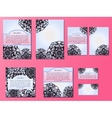 Blue and pink set of brochures flyers vector image