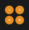 calculate interface buttons vector image
