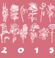 calendar cover 2015 flowers vector image