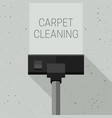 carpet cleaning with vacuum cleaner vector image vector image