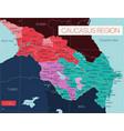 caucasus region detailed editable map vector image vector image