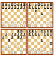 Chess position set vector image vector image