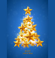 christmas and new years blue background vector image vector image