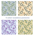 circles seamless patterns vector image