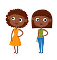color cute cartoon african vector image vector image