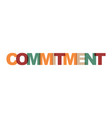 commitment management business card text modern vector image vector image