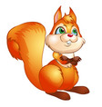 cute squirrel isolated on white background vector image vector image