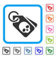 death skull tags framed icon vector image vector image