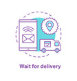 delivery waiting concept icon vector image