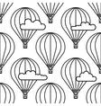 Dirigible and hot air balloons airship vector image vector image